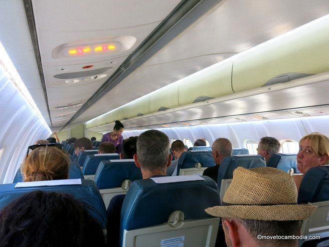 Cambodia Angkor Air ATR72 interior plane