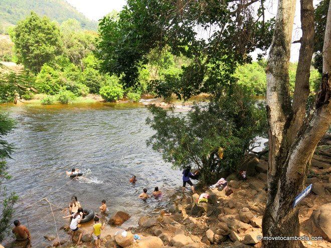 Swimming at Tuek Chou