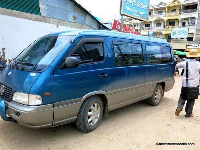 Mini-bus from Siem Reap to Bangkok