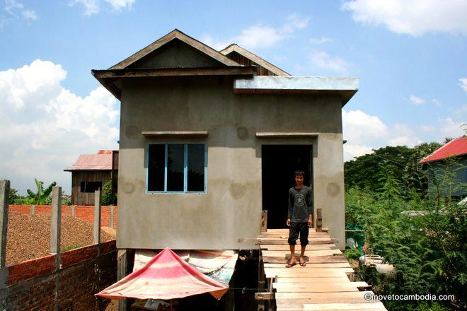 A newly built house in Cambodia