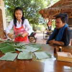 Making Cambodian desserts in Siem Reap.