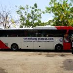 Mekong Express bus in Cambodia