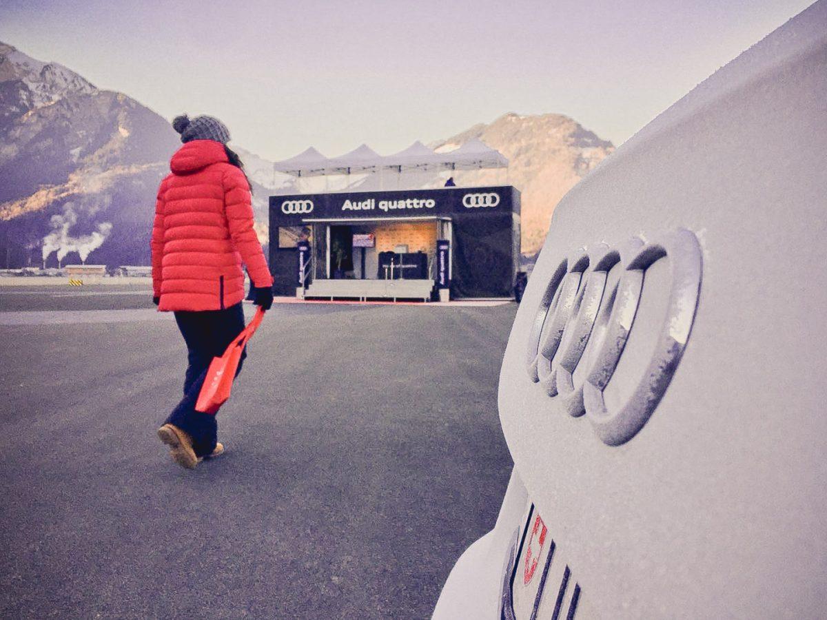 Promotion AUDI, Eventtrailer Moritz, VIP Parkplatz Promotion, Eventtrailer am Flugplatz