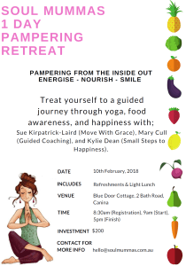 Soul Mummas 1 Day Pampering Retreat