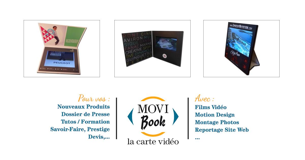 5ffd3d381aa Plaquette vidéo et brochure - Movi-Book La Carte vidéo