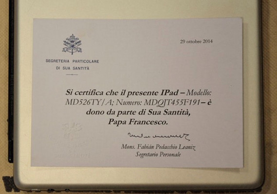 iPad papa francisco