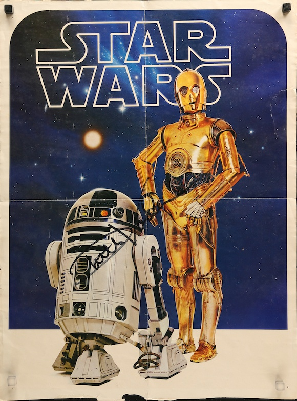 star wars commercial poster 1977 c 3po r2 d2