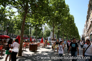 A Bout de Souffle film location: Champs Elysees, Paris