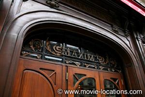 Midnight In Paris location: Maxim's, rue Royale, Paris
