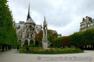 Midnight In Paris location: Parc Jean XXIII, Ile de la Cite, Paris