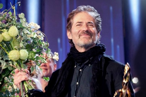 James Horner collecting the Max Steiner Award at Hollywood in Vienna, 2013