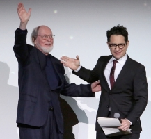 J.J, Abrams introduces Williams at the premiere