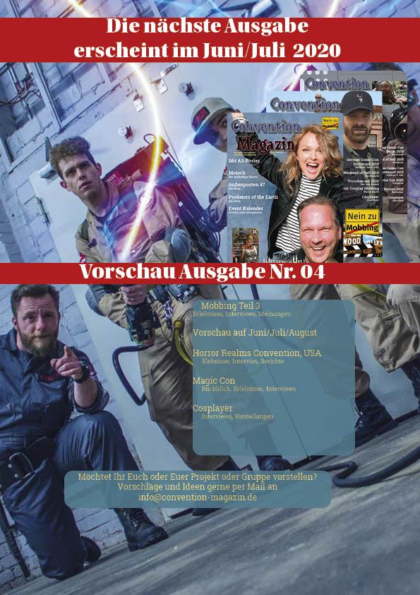 Convention Magazin Ausdgabe 3 Rückseite