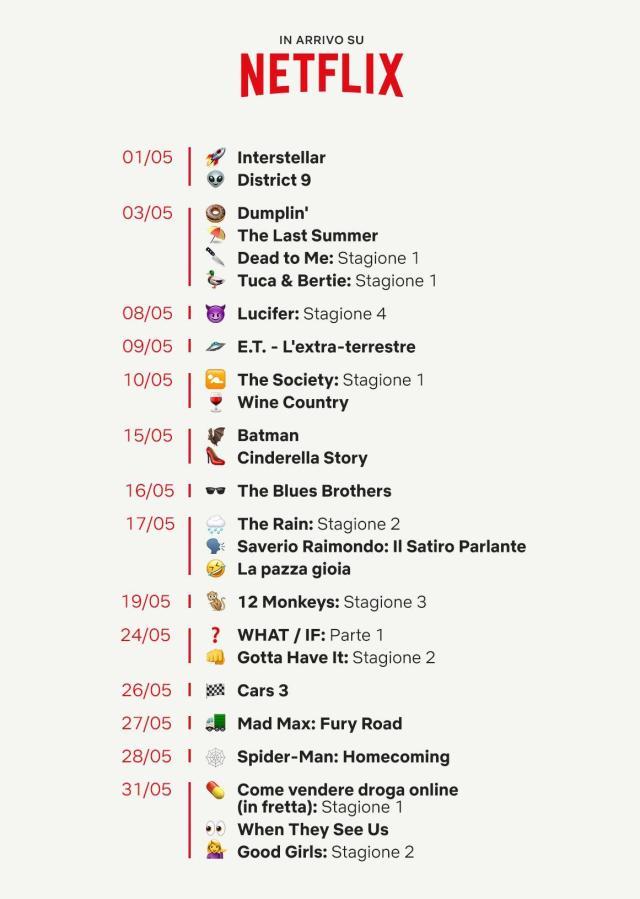 Le novità Netflix di maggio