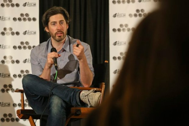 Jason Reitman (Juno, Up in the Air) answers a question during his conversation at AFF's Screenwriters Conference. Photo by Jack Plunkett