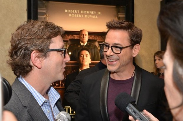Robert Downey Jr. and ?? at the 2014 Heartland Film Festival