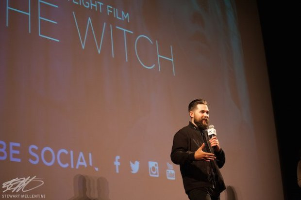 "Writer/Director Robert Eggers introduces his award-winning feature ""The Witch"" at the 2015 New Hampshire Film Festival. Photo by Stewart Mellentine."