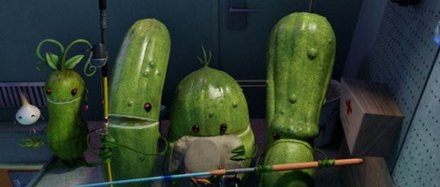 Sounds of the pickle characters' movements were almost all created during the team's vegetable recording session