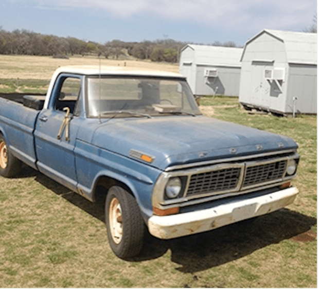 Ol' Blue on the farm in Oklahoma