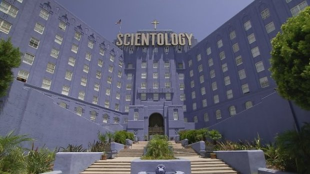 The Church of Scientology headquarters in Los Angeles. Courtesy of HBO