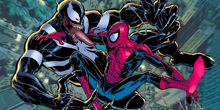 Venom en witte spin logo
