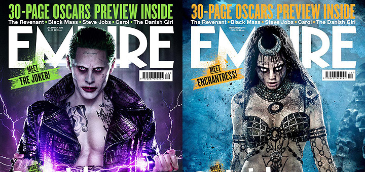 Suicide Squad New Joker And Enchantress Empire Covers