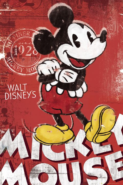 MICKEY MOUSE TV SHOW POSTER PRINT VINTAGE RETRO