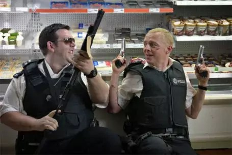 Simon Pegg en Nick Frost in Hot Fuzz