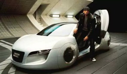 Will Smith met de futuristische Audi in I, Robot