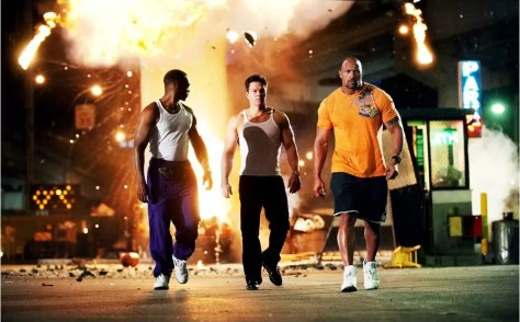 anthony mackie, mark wahlberg en the rock in pain and gain