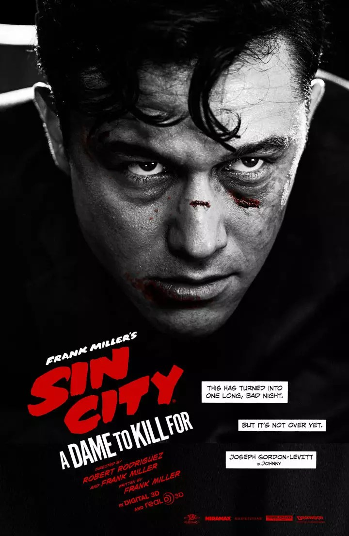 Jospeh Gordon-Levitt als Johnny in Sin City 2: A Dame to Kill for poster
