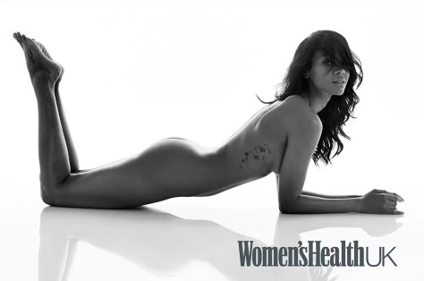 Zoe Saldana naakt voor Women's Health UK