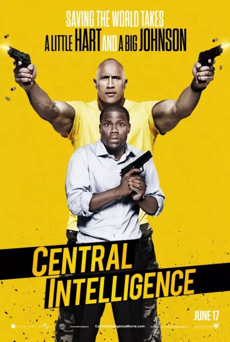 Central Intelligence poster met Dwayne Johnson & Kevin Hart