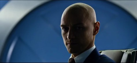 James McAvoy als de kale Professor Xavier in X-Men Apocalyse