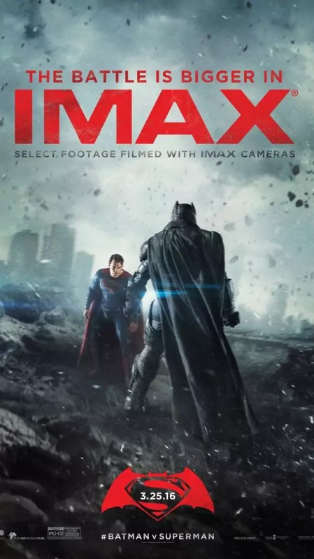 Batman vs. Superman Dawn of Justice IMAX poster