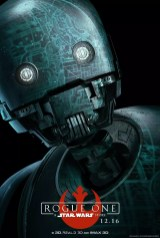 Star Wars Rogue One karakterposter met Alan Tudyk als K-2SO