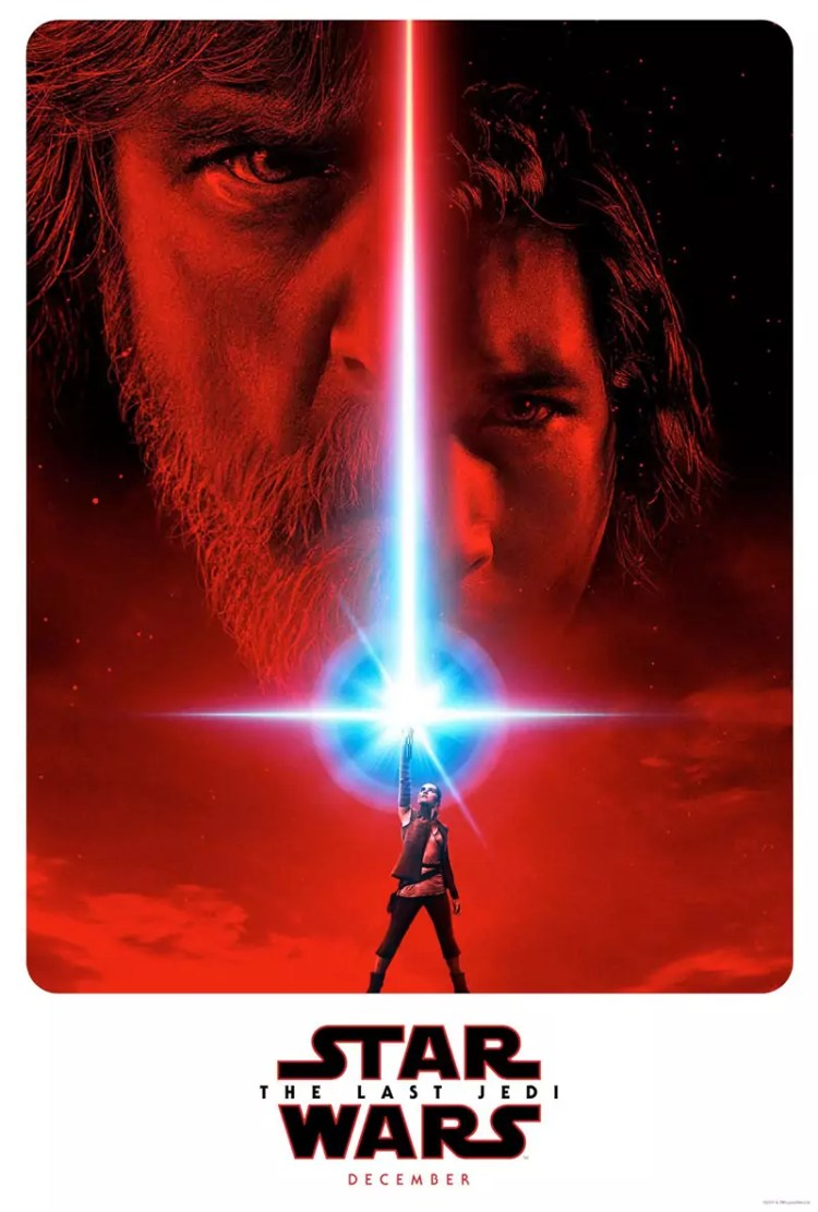 Mark Hamill in nieuwe Star Wars 8 The Last Jedi poster