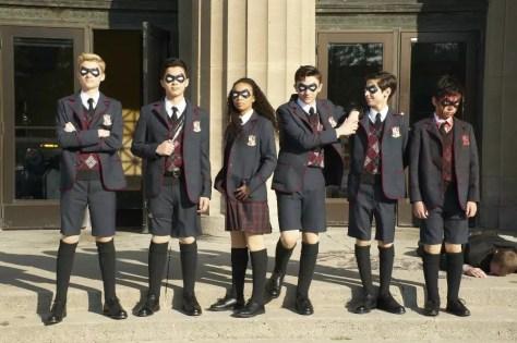 De jonge leden van Umbrella Academy op Netflix