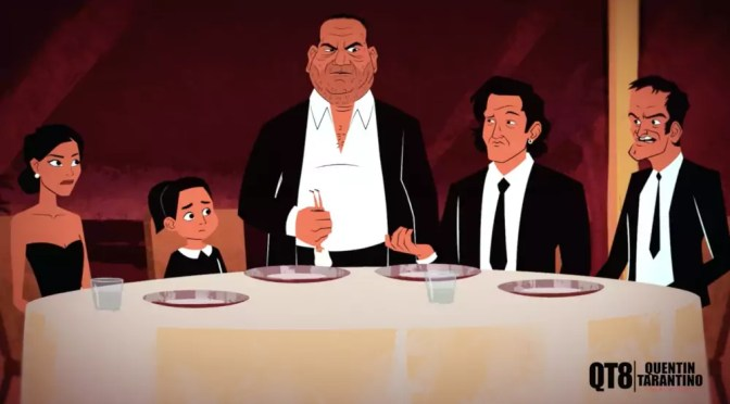 QT8 The First Eight Quentin Tarantino Harvey Weinistein animatie