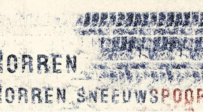 In productie Sneeuwspoor van schrijver Rudy Morren