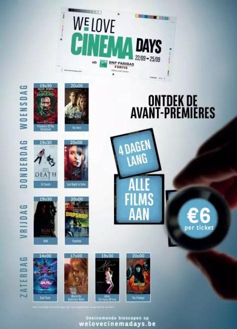 Avant Premieres van We Love Cinema Days 2021