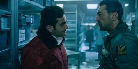 Mehmet Kurtulus en Laurent Capelluto in Into the Night S2 op Netflix België