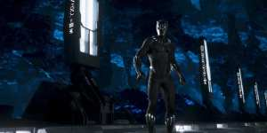 "Black Panther (2018)<center><img class=""alignnone size-full wp-image-323"" src=""https://www.moviereviews.us/wp-content/uploads/2018/09/IMG_2353-6-1.jpg"" alt="""" width=""107"" height=""23"" /></center>"