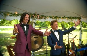 """Bill and Ted Face the Music (2020)<center><img class=""""alignnone size-full wp-image-310"""" src=""""https://www.moviereviews.us/wp-content/uploads/2018/09/IMG_2346-2.jpg"""" alt="""""""" width=""""107"""" height=""""23"""" /></center>"""