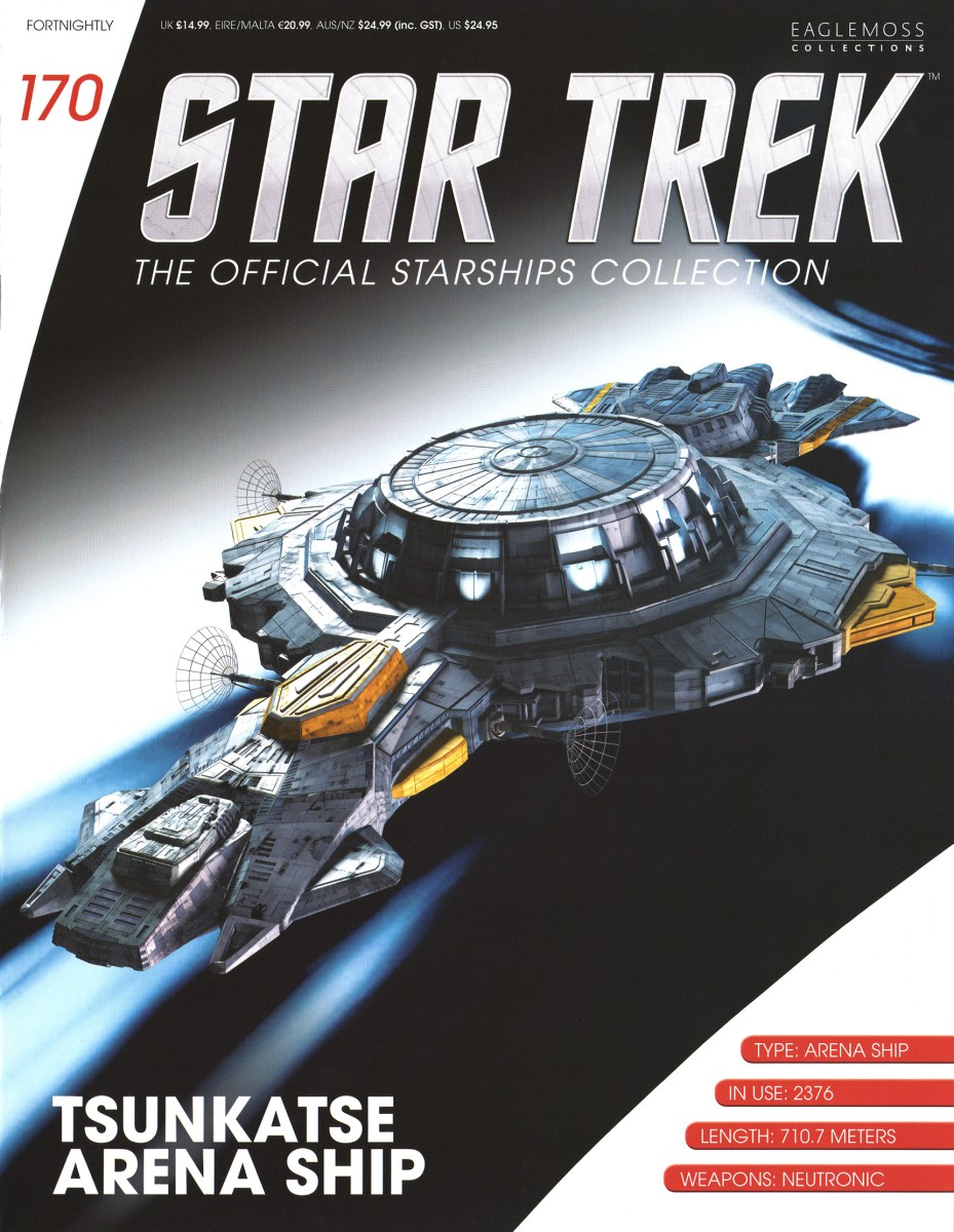 Star Trek The Official Starships Collection 170 Star Trek  The Official Starships Collection #170 Tsunkatse Arena Ship