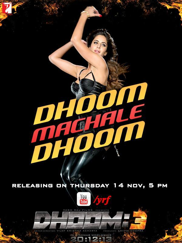 Dhoom Machale Dhoom Song Releasing on 14 November
