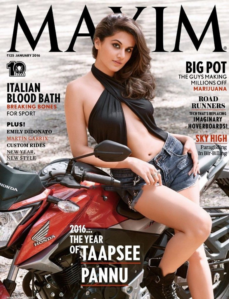 Taapsee Pannu Photoshoot for Maxim India Magazine Cover