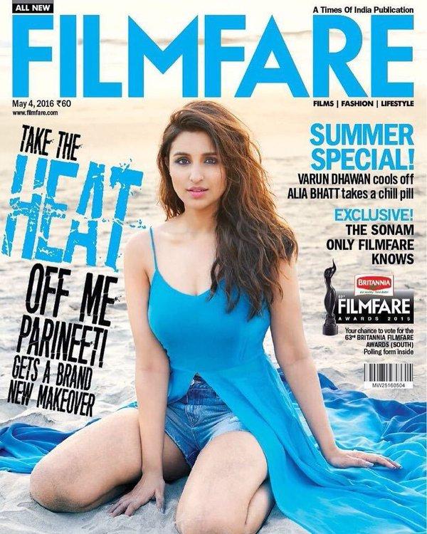 Parineeti Chopra Filmfare Magazine Cover Photoshoot April 2016 Pics