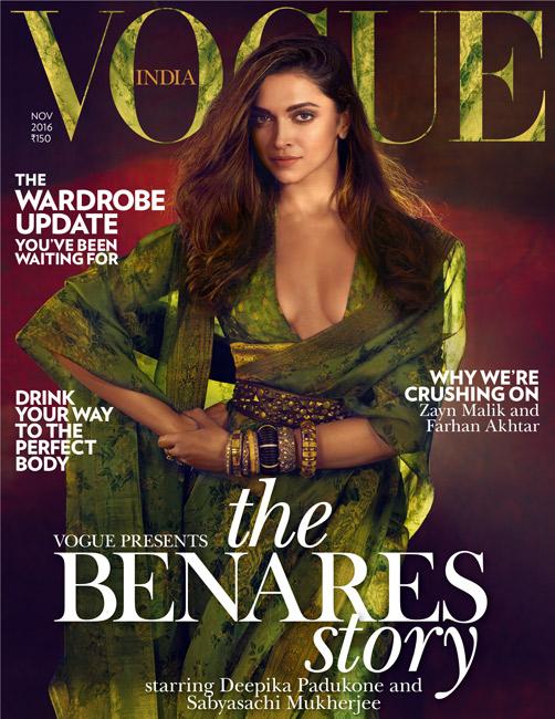 Deepika Padukone on Vogue India Cover November 2016