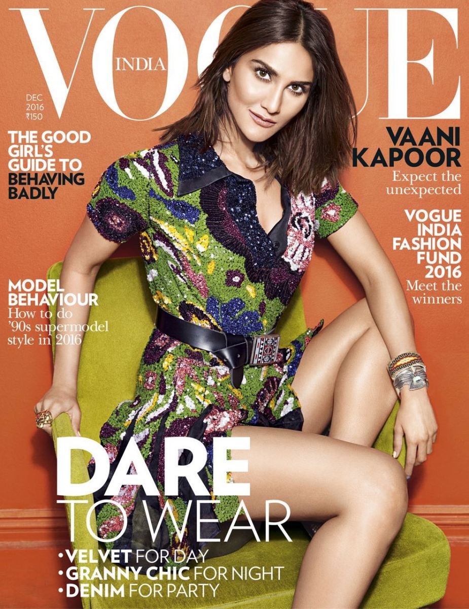 Vaani Kapoor On The Cover Of Vogue December 2016 Issue